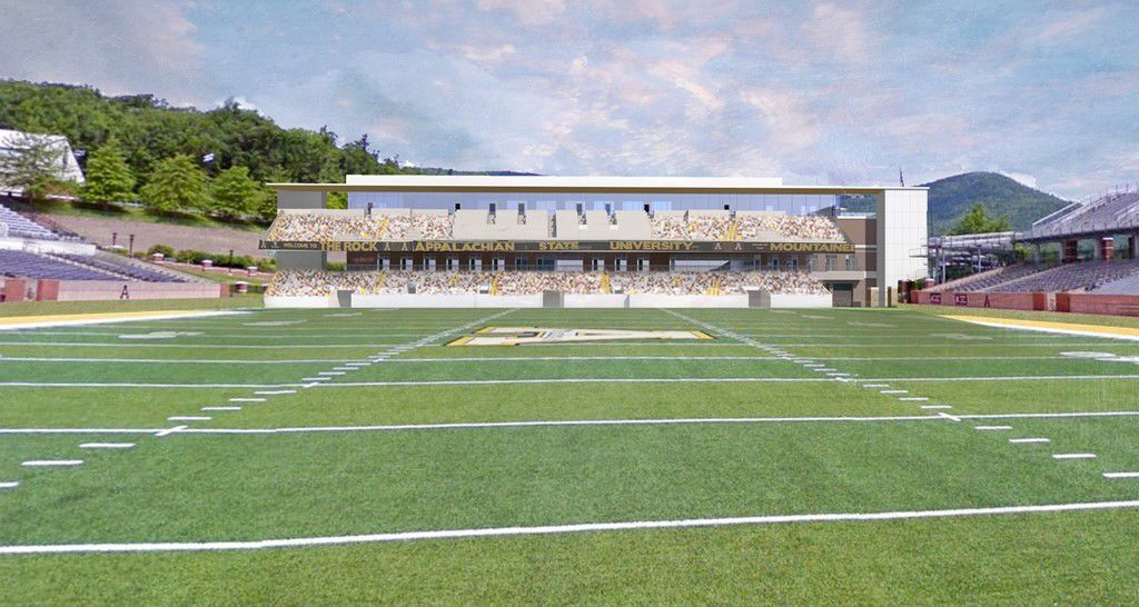 North end zone facility field view