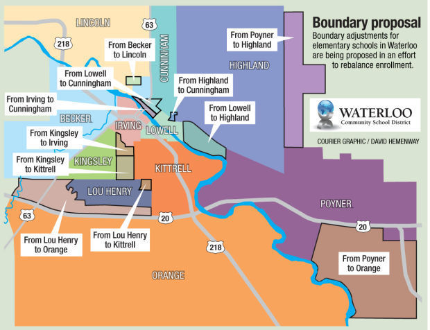 New Waterloo Schools boundary map | | wcfcourier.com