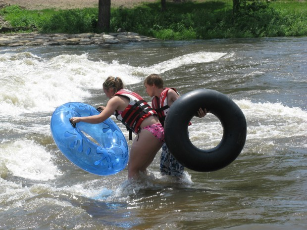 Whitewater course at Charles City