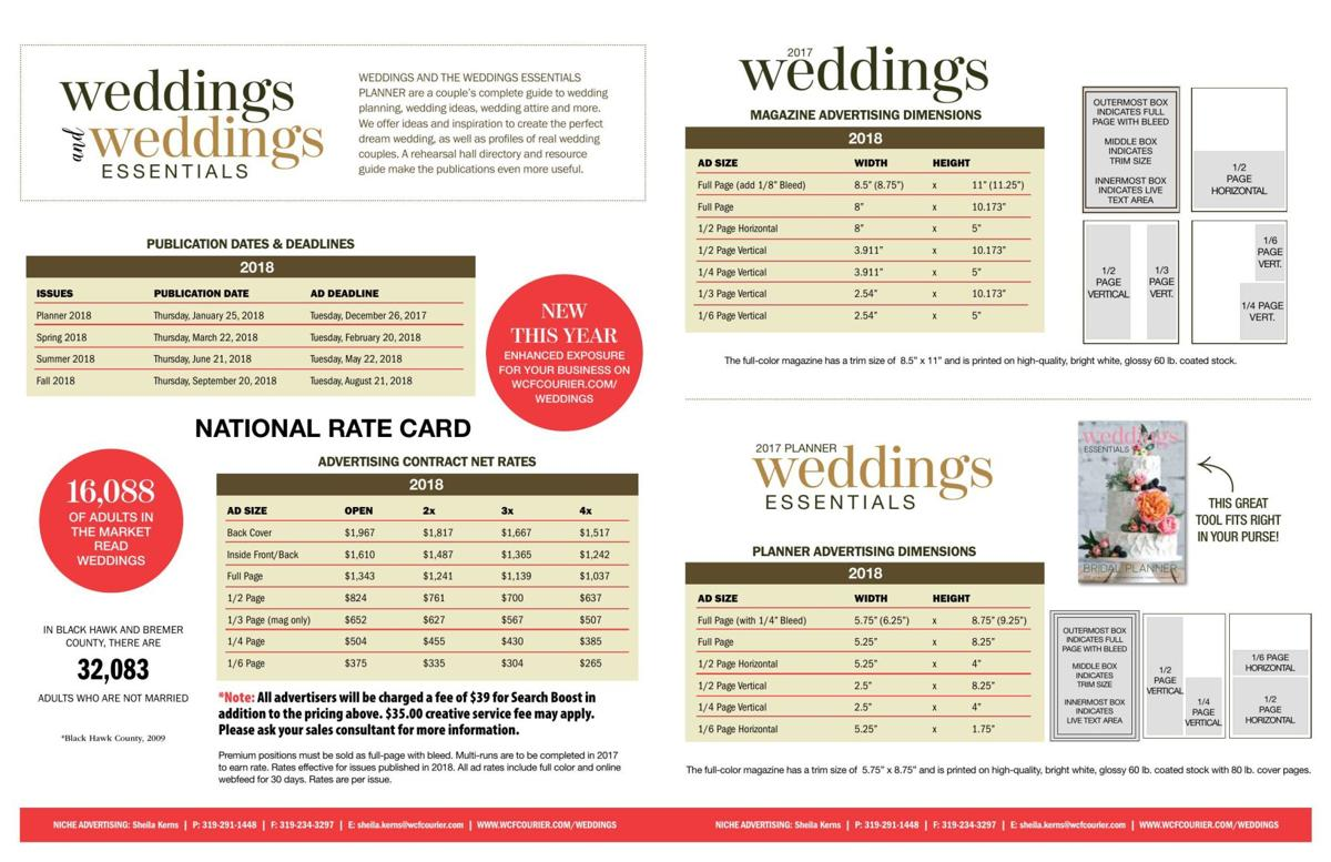Weddings Rates