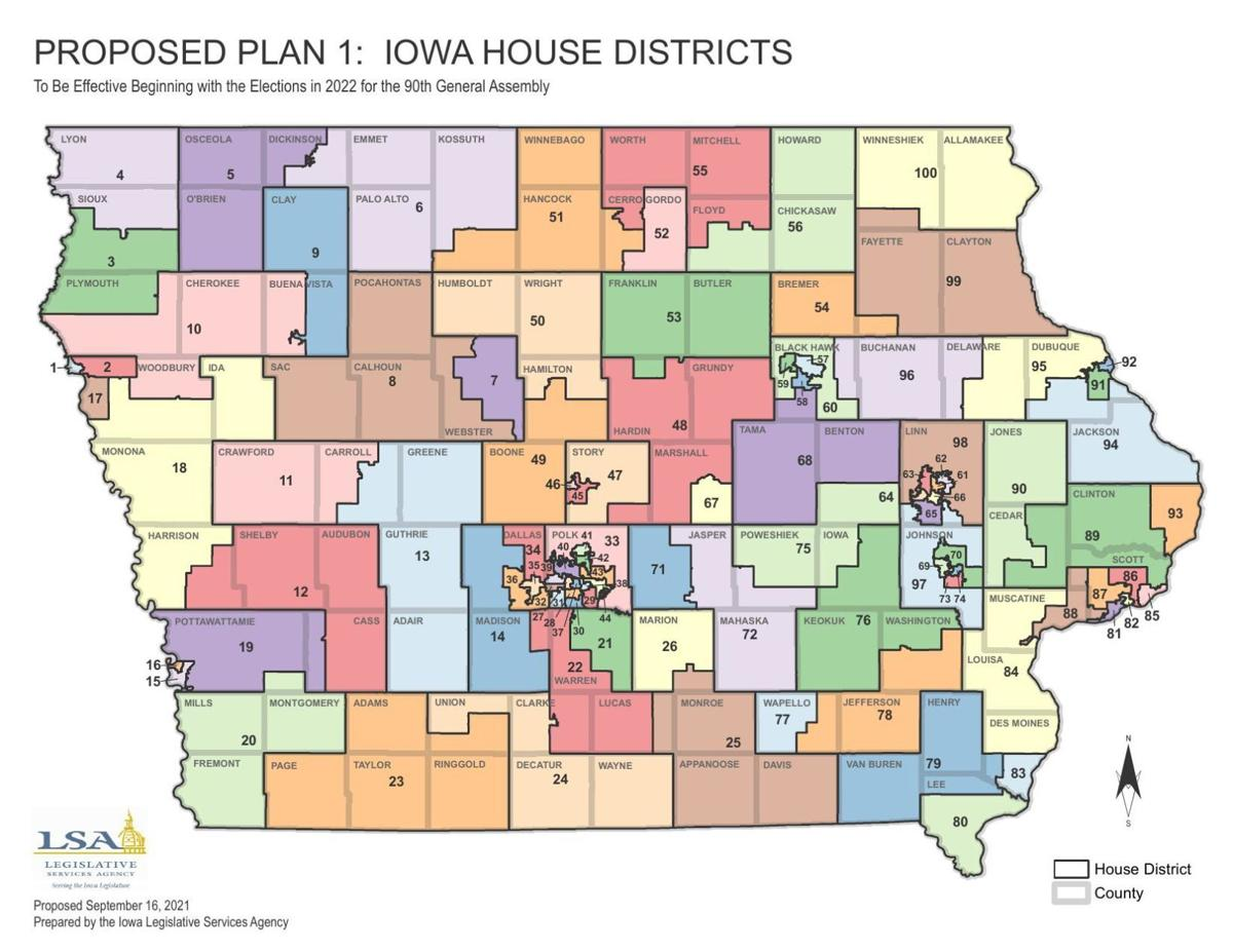 Proposed Plan 1: Iowa House Districts