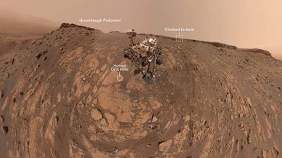 Curiosity Mars selfie