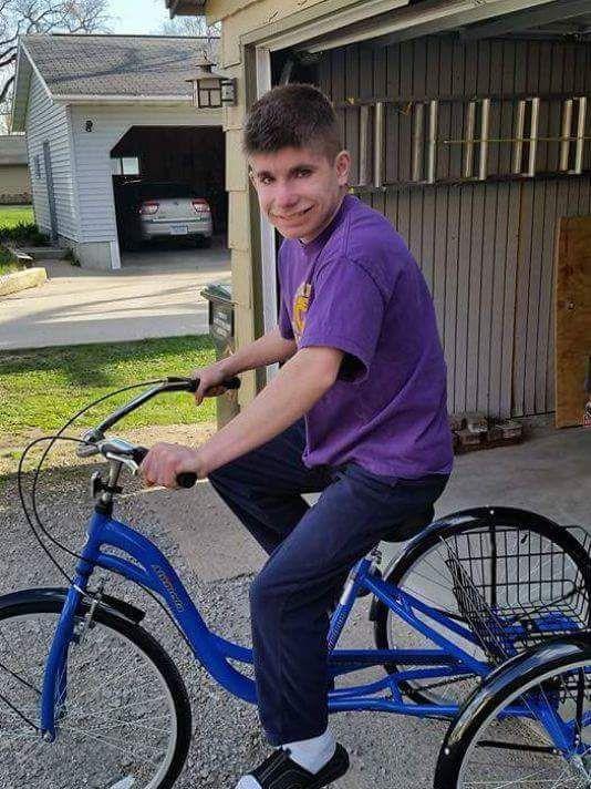 Jake Wilson with bike
