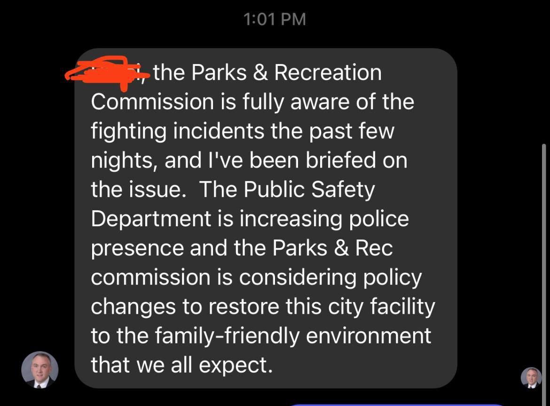 Screenshot, Mayor Rob Green message June 10, 2021