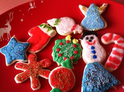 christmas cookie main cream cheese sugar cookies decorated using easy royal icing
