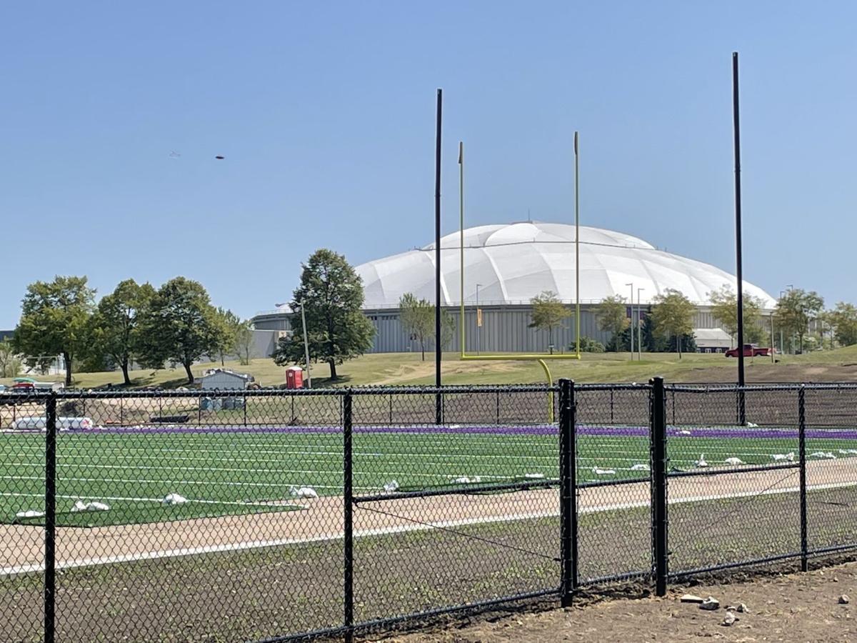 Northern Iowa practice field with UNI-Dome