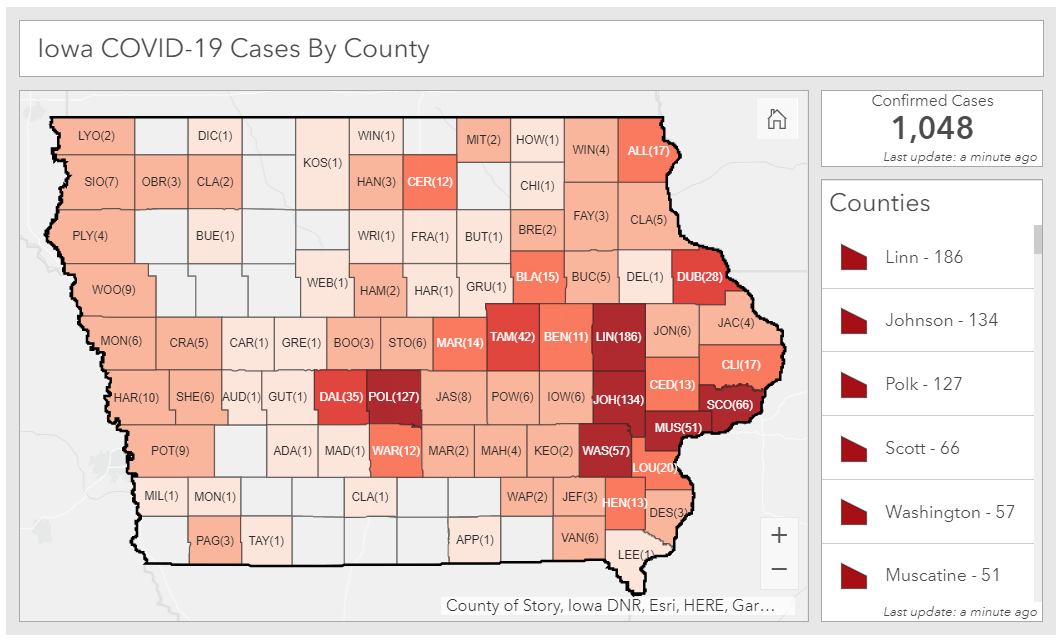 Total coronavirus cases as of April 7, 2020
