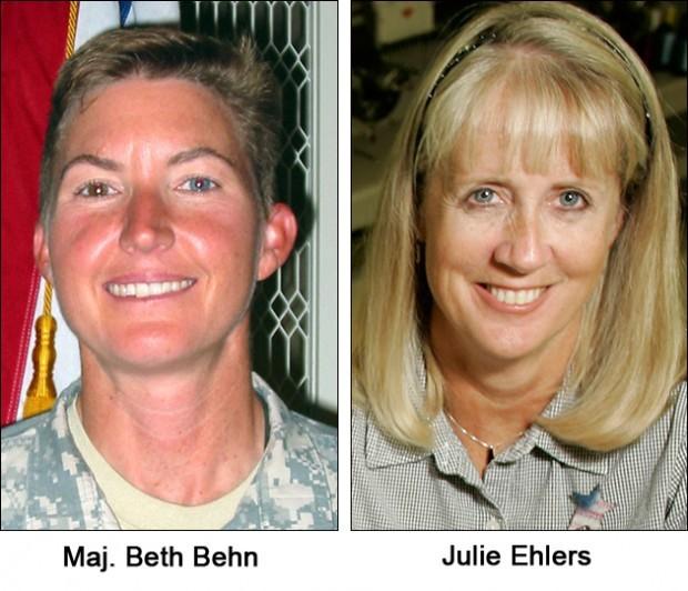 Julie Ehlers and Maj. Beth Behn