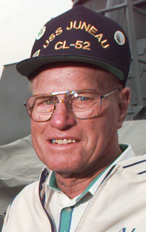 USS Juneau survivor Lester Zook, close-up