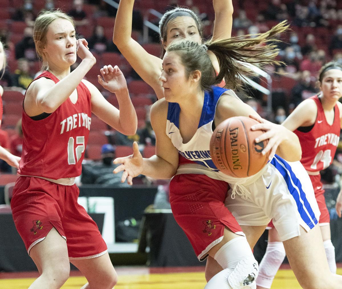 Dike-New Hartford vs Treynor girls state basketball