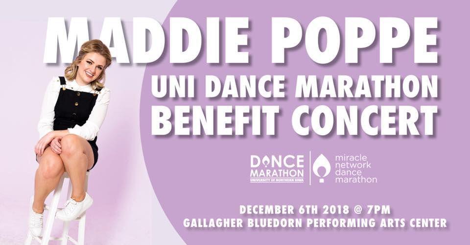 Maddie Poppe benefit concert flyer