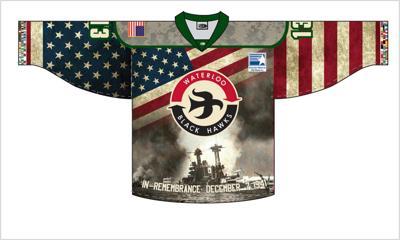 Black Hawks Pearl Harbor jersey