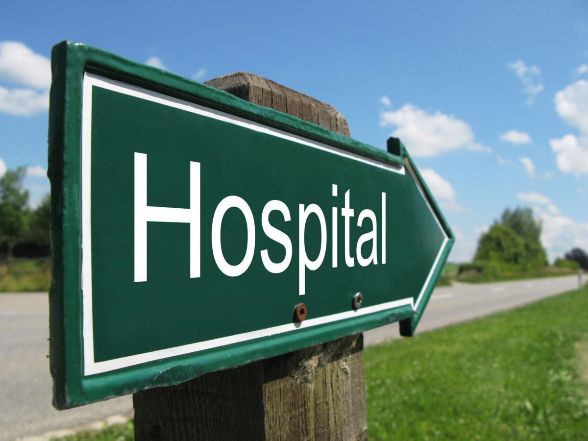 Hospital,Road,Sign