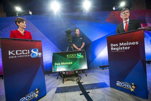 Iowa candidates for governor face off in first debate