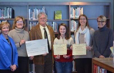 Fretheim, Decorah school library award presentation