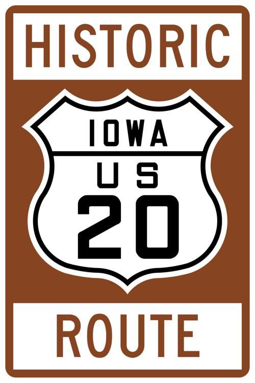 historic iowa us 20 route jpg