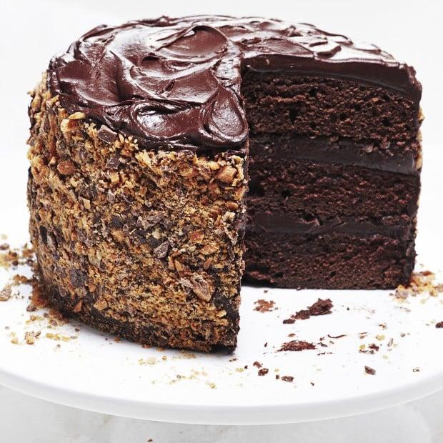 Triple Chocolate Galaxy Cake