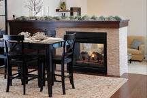 style and function kitchen fireplace