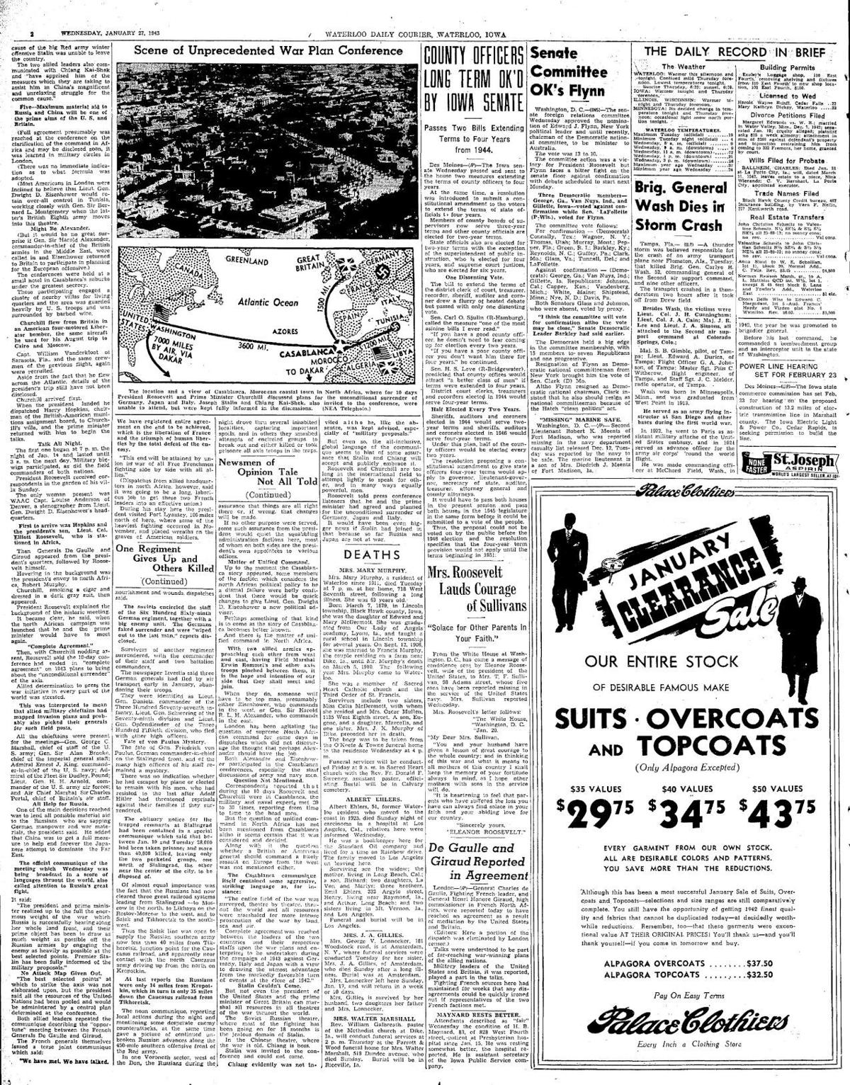 Courier Jan. 27, 1943