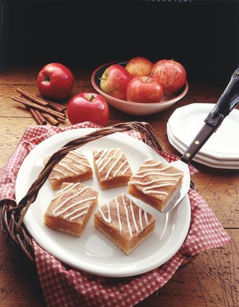 Glazed apple bars