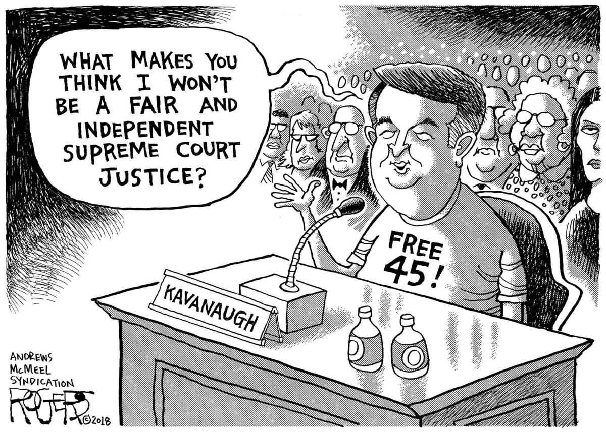 Image result for kavanaugh not qualified cartoon