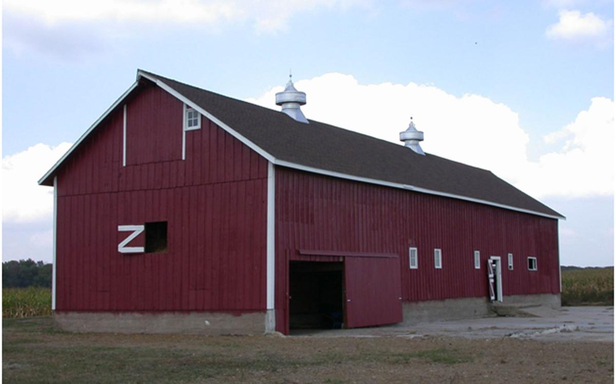 The Younker Heritage barn near Parkersburg