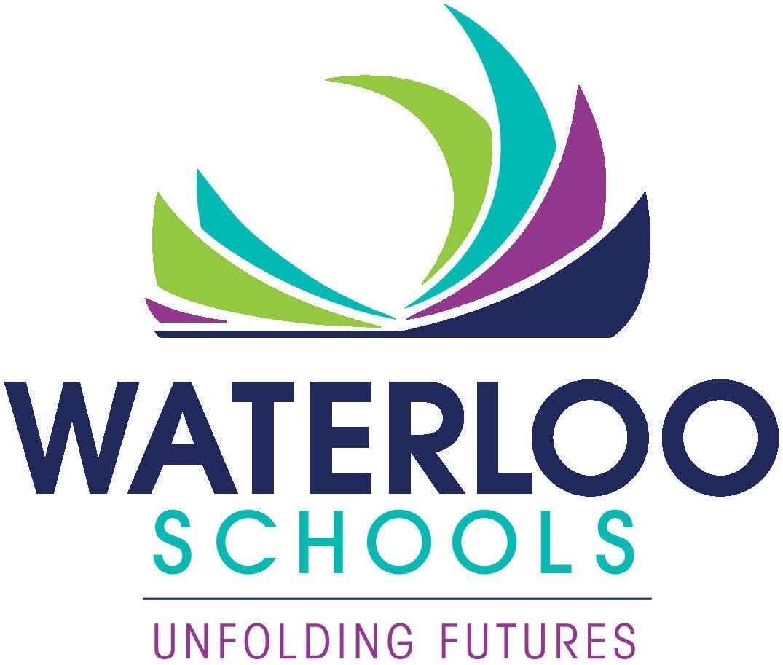 Unfolding Futures Waterloo Schools logo vertical
