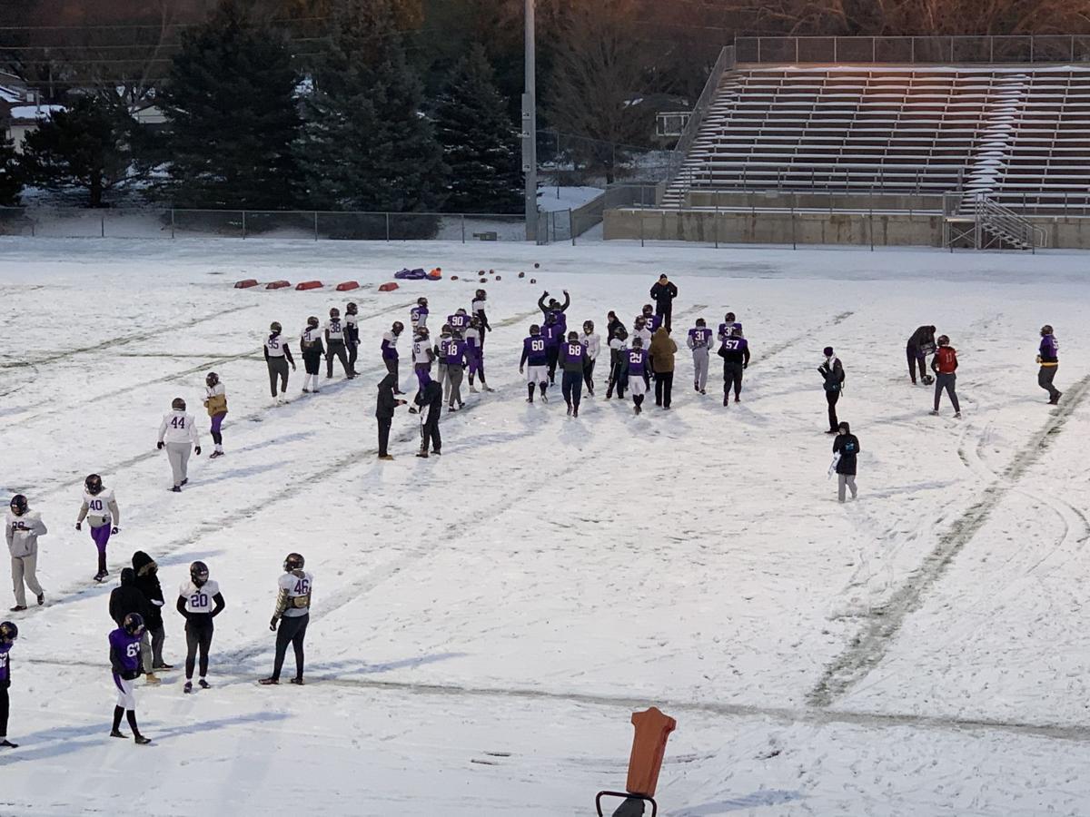 UNI football outdoor practice