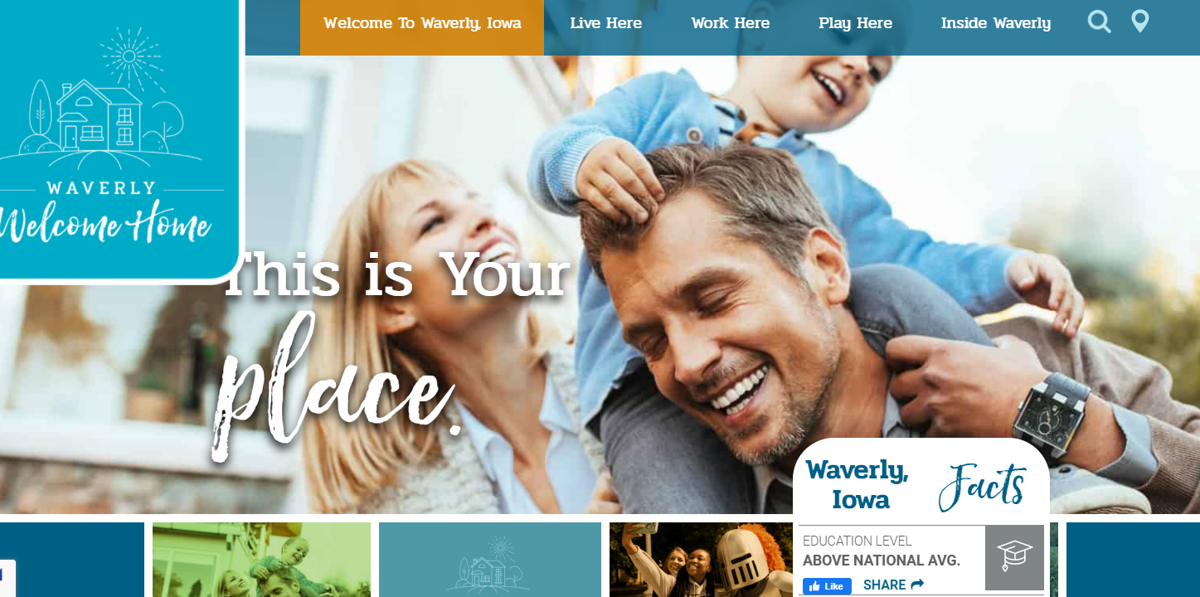Waverly Welcome Home campaign screenshot