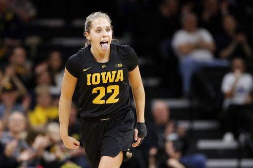 No. 16 Iowa women hold off Cyclones 73-70
