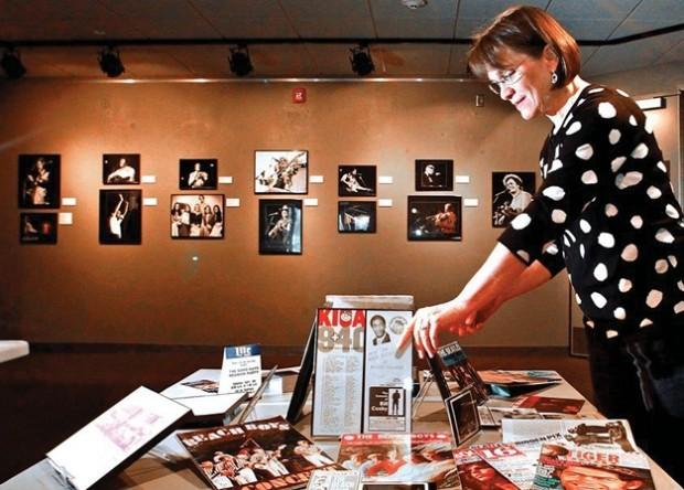 Robin Venter and rock exhibit