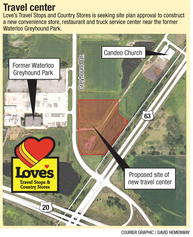 Waterloo City Council To Consider Truck Stop Incentives - Map of truck stops in us