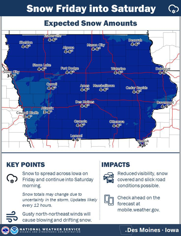 Snow forecast for Jan. 18-19, 2019