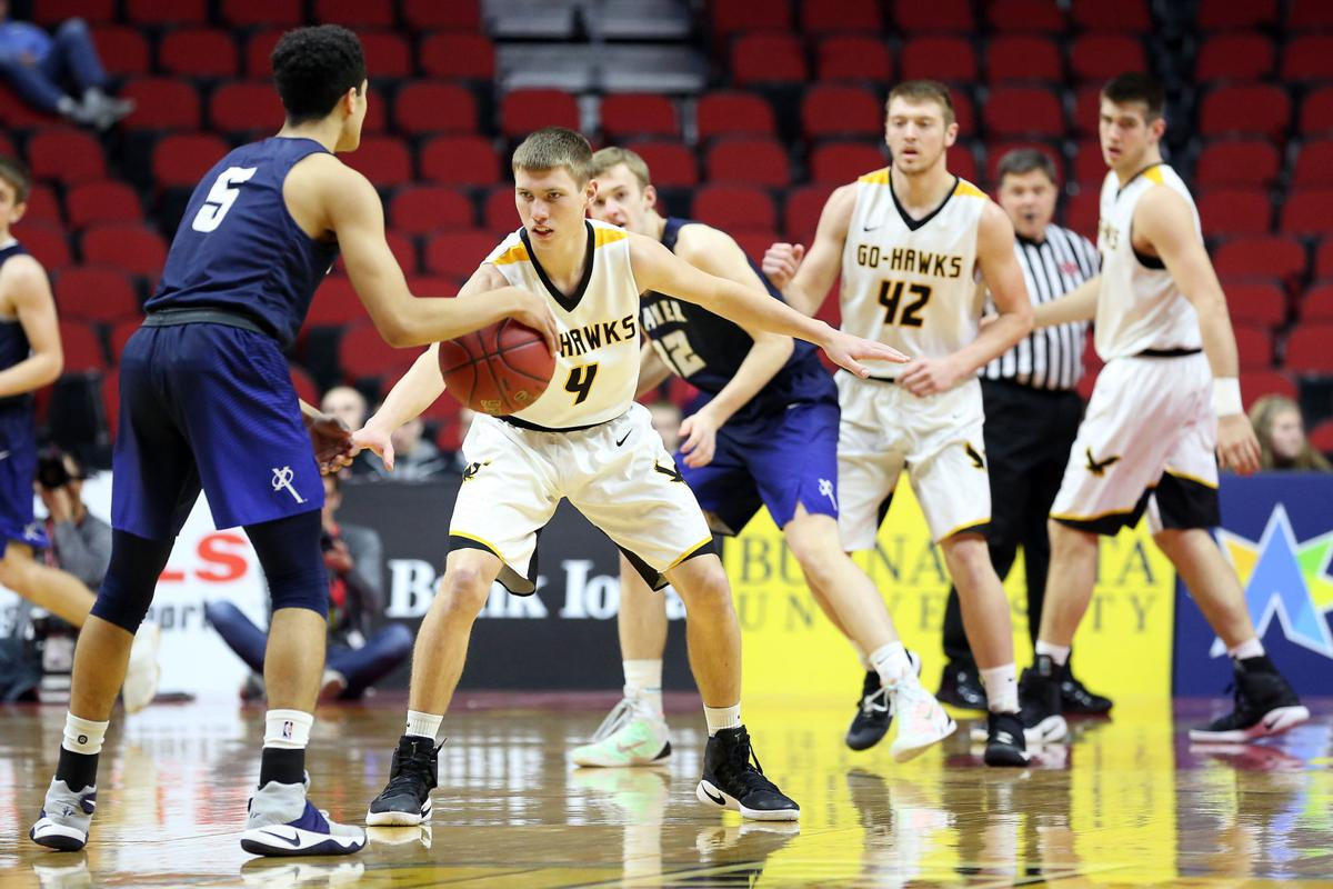 Boys' state basketball: Go-Hawk offense goes cold in