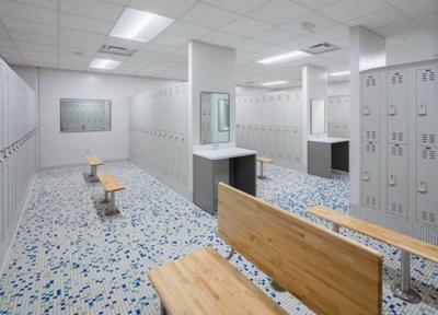 Cedar Falls Rec Center locker remodel