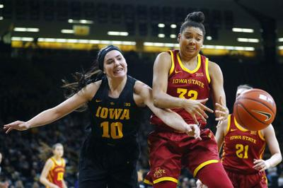 No. 16 Iowa women hold off Cyclones 73-70