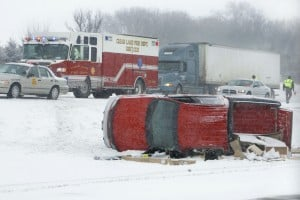PICTURE: Nevada, Iowa, man dies in Monday I-35 rollover
