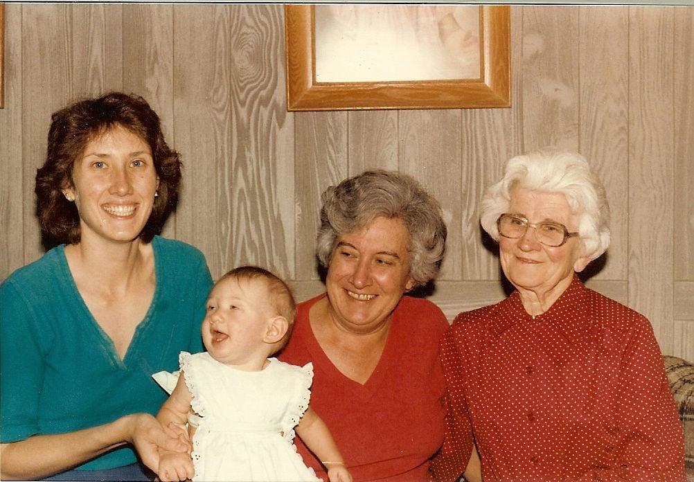 Potato dumpling casserole -- generations