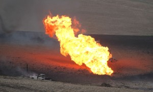 Gas line explosion