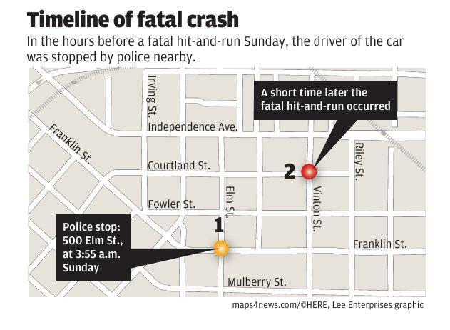 Timeline of fatal crash