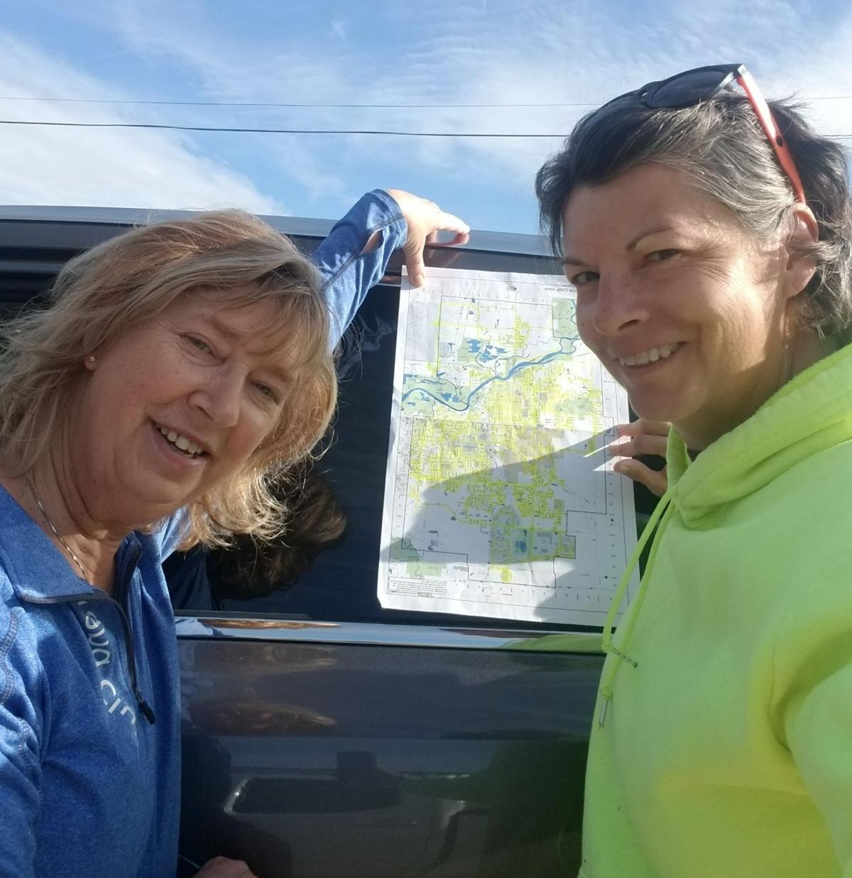 Bonnie Wetzel and Sara Jansen of Cedar Falls
