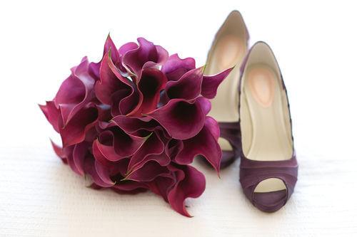 eggplant-flowers-shoes