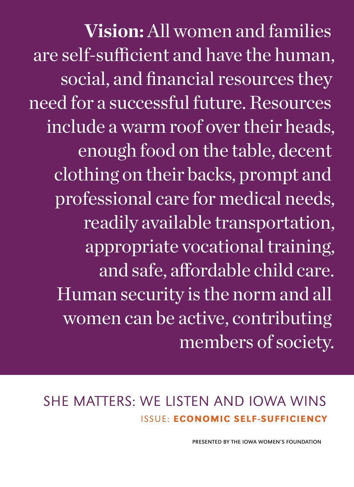 PDF: Iowa Women's Foundation economic report