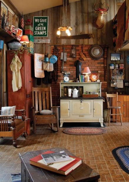 vintage farmhouse living area
