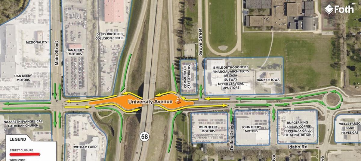 traffic to switch again in Cedar Falls