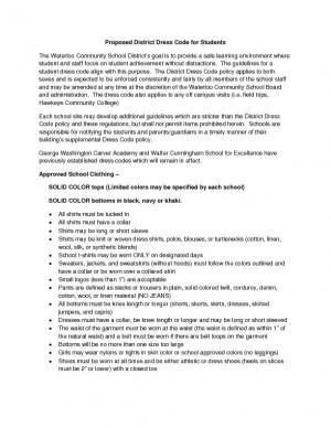 Dress Code Policy Examples Success Jpg 300x388 Legislation Business Sample