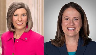 Joni Ernst, Theresa Greenfield combined online