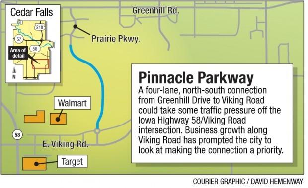Pinnacle Parkway map