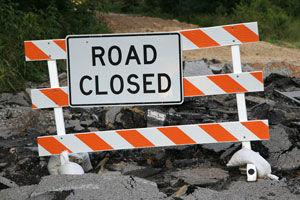 road closed clip art