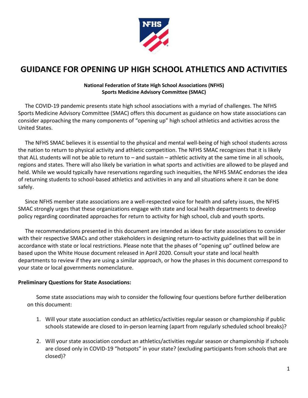 PDF: NFHS Guidance